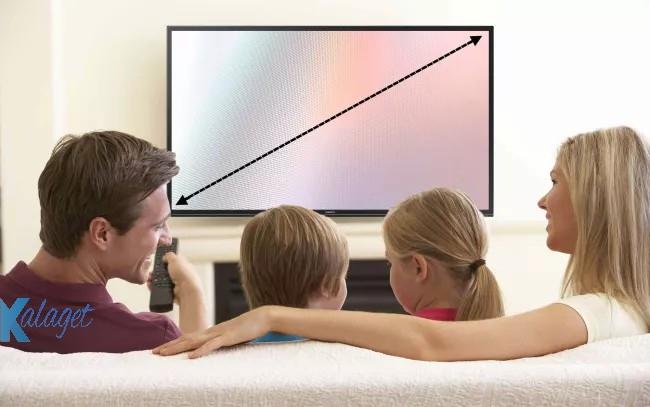 راهنمای خرید تلویزیون ، اندازه صفحه نمایش